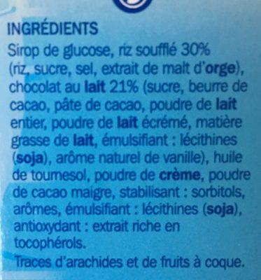 Barres céréales soufflées chocolat x 6 - Ingrédients - fr