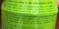 Sauce risotto champignons - Ingrédients - fr