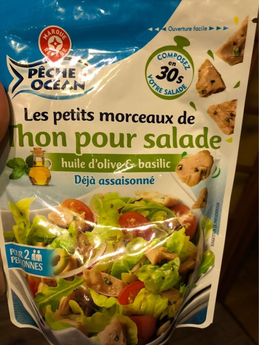 Préparation salade aux morceaux de thon huile d'olive et basilic - Produit - fr
