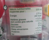 Les pressés Pomme - Informations nutritionnelles - fr