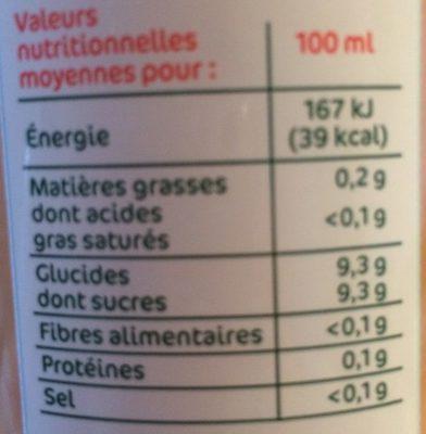 Les pressés Pomme - Nutrition facts