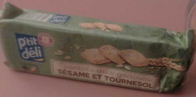 Biscuits aux graines de sésame et tournesol - Product - fr