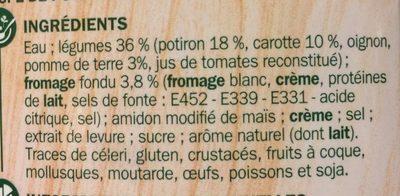 Velouté potiron fromage fondu - Ingredients - fr