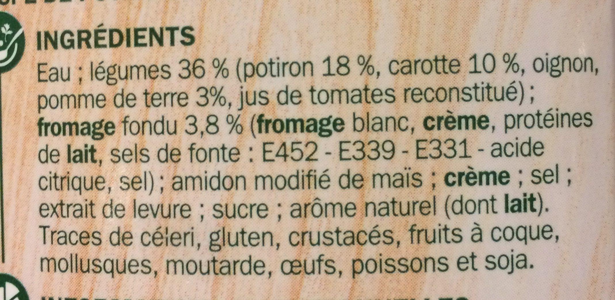 Velouté potiron fromage fondu - Ingrédients - fr