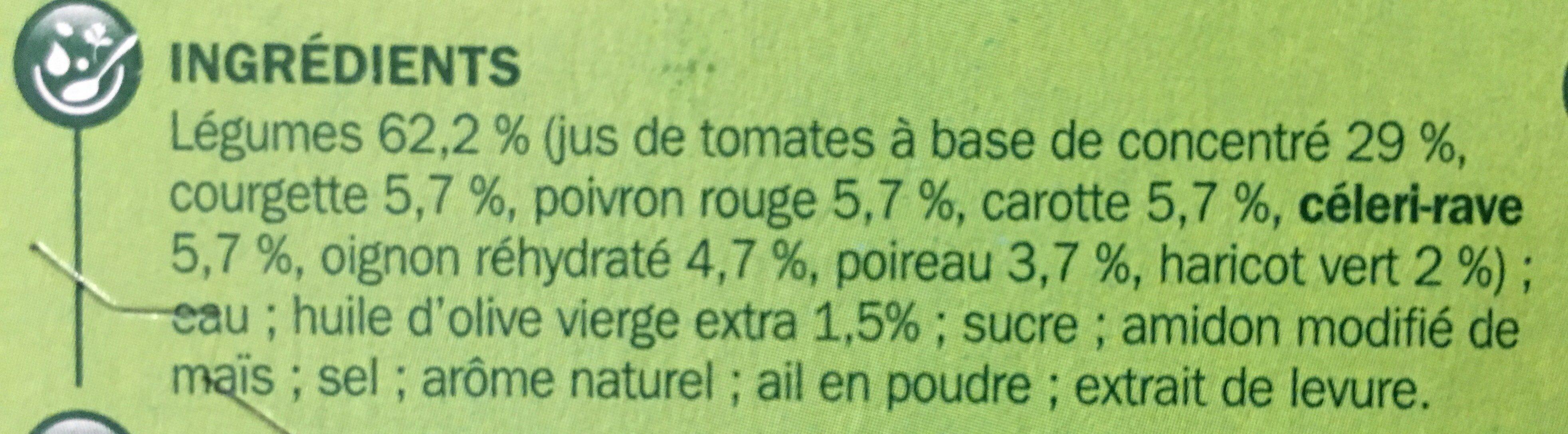 Velouté de légumes du soleil - Ingrédients