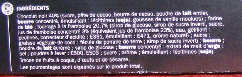 Fleur de framboise au chocolat noir - Ingredients