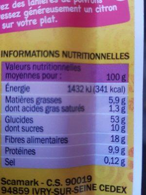 Mélange paella - sachet - Nutrition facts