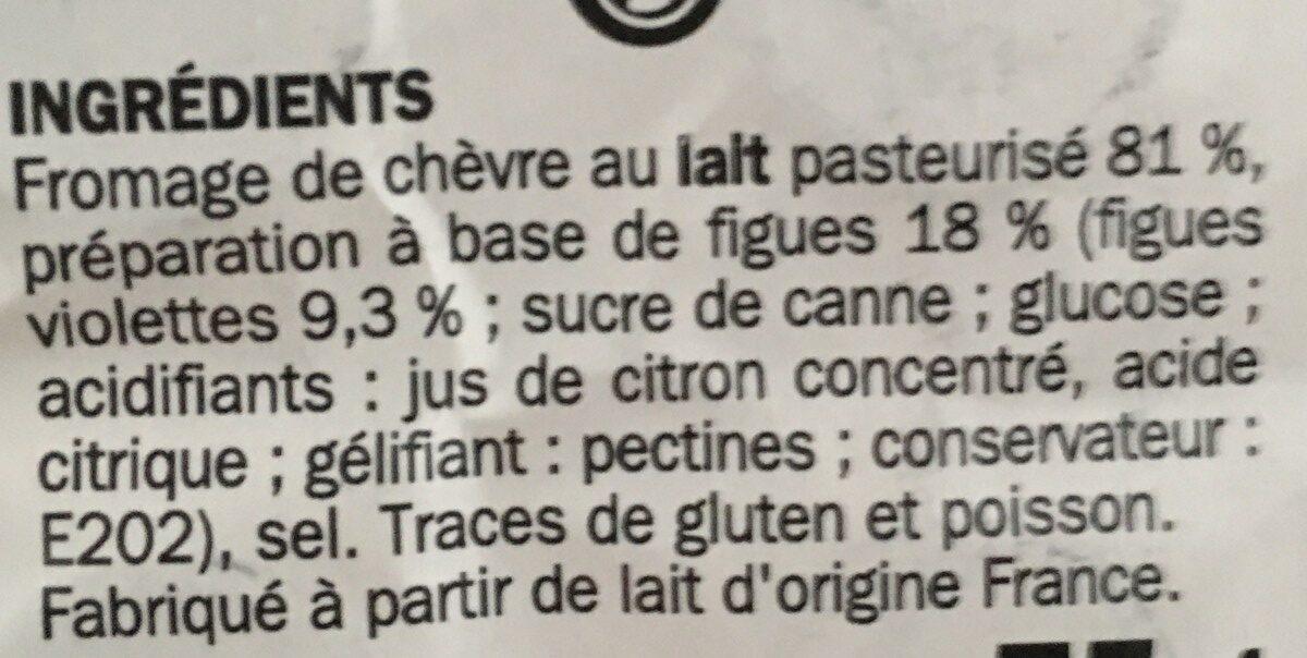 Billes de chèvre fourrées figue x 16 - Ingrediënten