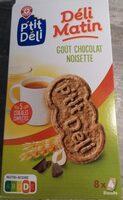 Biscuits petit déjeuner Déli-Matin goût noisette et chocolat - Product - fr
