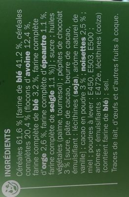 Déli Matin Pépites de Chocolat - Ingredients