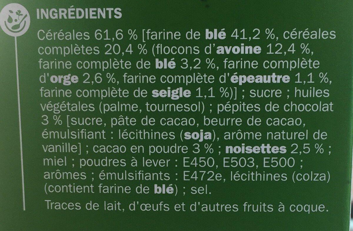 Biscuits petit déjeuner Déli-Matin goût noisette et chocolat - Ingrediënten - fr