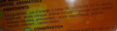 Soda orange - Ingrédients