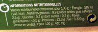Oeufs plein air 3x6 - Nutrition facts