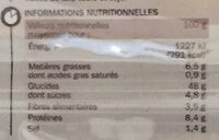 Petits pains céréales et graines de pavot précuits x 8 - Voedingswaarden - fr