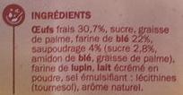 6 Gaufres saupoudrées, aux œufs frais - Ingrédients
