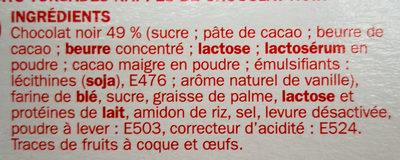 Bâtonnets torsadés chocolat noir - Ingredienti - fr