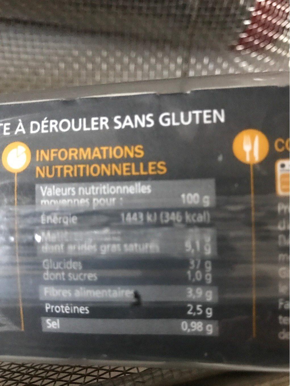 Pate feuillet e chaque jour sans gluten - Acide citrique leclerc ...