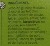 Choc'ours - Ingrédients - fr