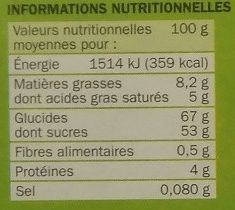 Choc'ours - Informations nutritionnelles