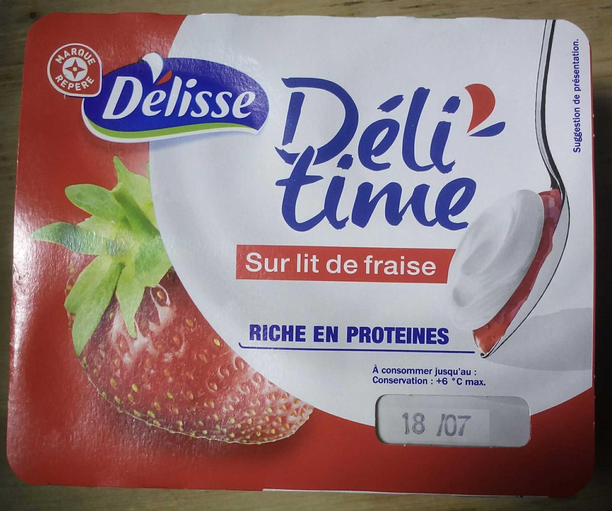 Encas riche en protéines sur lit de fraise - Product - fr