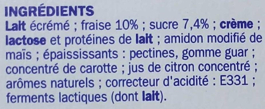 Encas riche en protéines sur lit de fraise - Ingrediënten - fr
