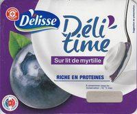Encas riche en protéines sur lit de myrtille - Produit - fr