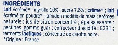 Encas riche en protéines sur lit de myrtille - Ingrédients - fr