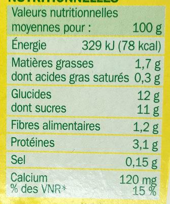 Spécialité au soja citron - Nutrition facts - fr