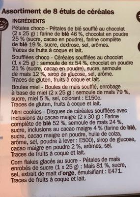 Mini céréales x 8 - Ingrédients - fr