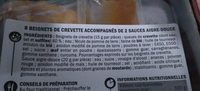 Beignets de crevettes x 8 - Ingredients