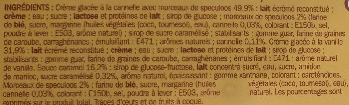 Vrac gourmand vanille speculoos - Ingredients
