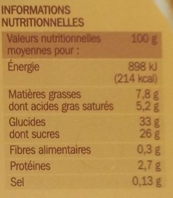Vrac gourmand vanille speculoos - Nutrition facts