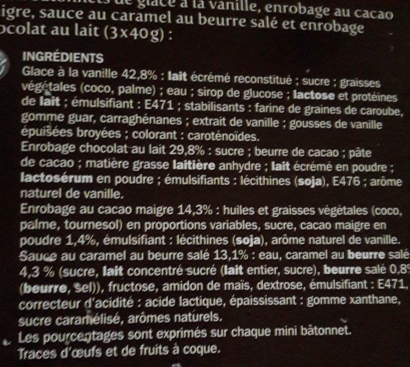 Mini trium vanille ou chocolat double enrobage x 6 - Ingredients - fr