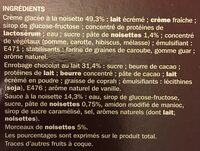Trium noisette double enrobage - Ingredients - fr
