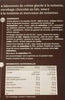 Trium noisette double enrobage - Nutrition facts - fr