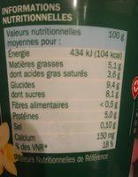 Yaourt au lait de chèvre vanille - Voedingswaarden