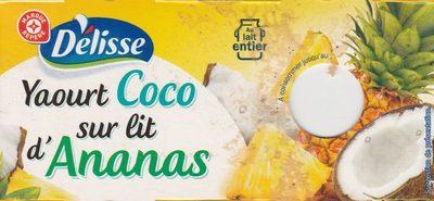 Yaourts gourmands au lait entier coco sur lit d'ananas - Produit - fr