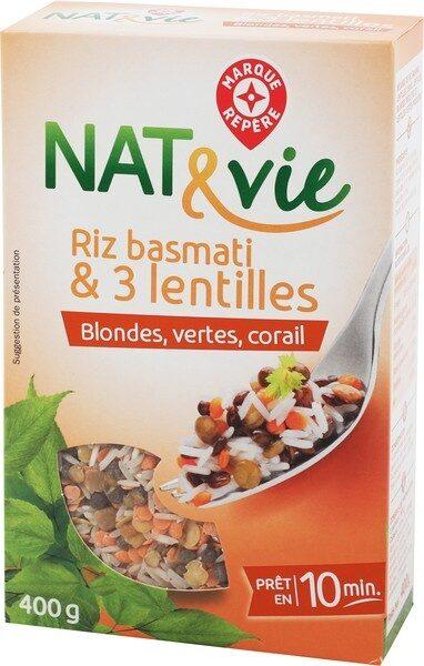 Mélange riz basmati et 3 lentilles - Product