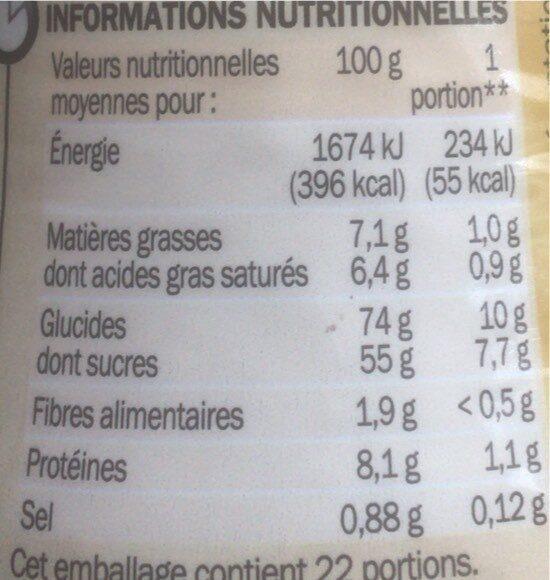 Cappuccino vanille latte - Valori nutrizionali - fr