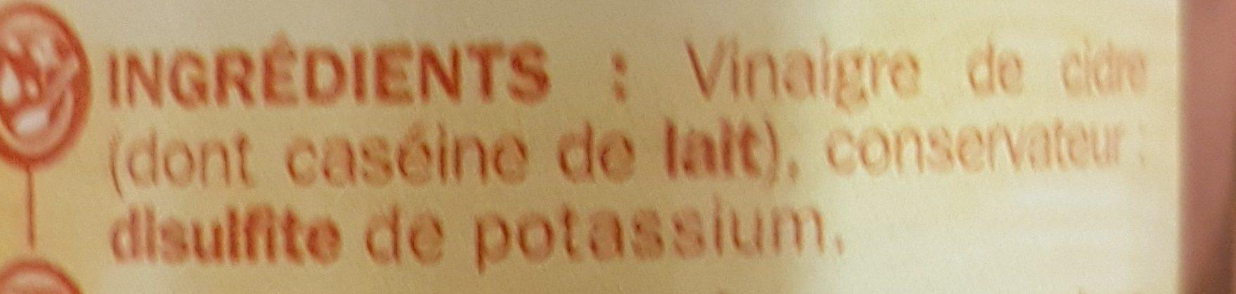 Vinaigre de cidre - Ingrédients