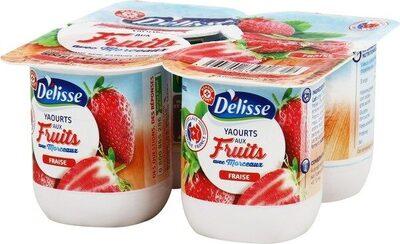 Yaourt aux fruits avec morceaux fraise - Produit