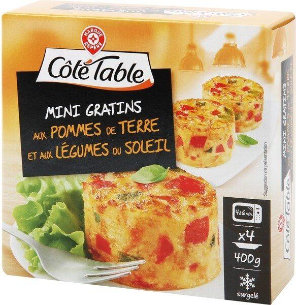 Mini gratins aux pommes de terre et aux légumes du soleil x 4 - Produit - fr
