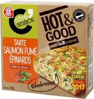 Tarte saumon fumé et épinards Hot & Good - Produit - fr