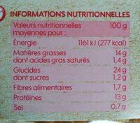 Nuggets Végétariens - Informations nutritionnelles - fr