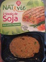 Steaks végétarien soja aux petits légumes - Produit - fr