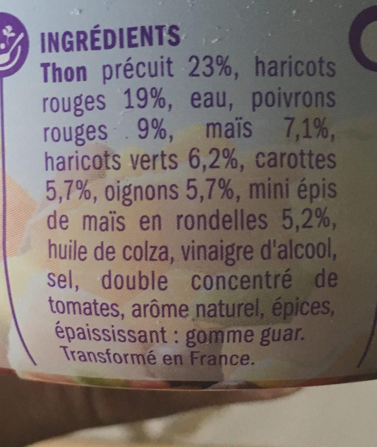 Salade mexicaine au thon - Ingredients - fr