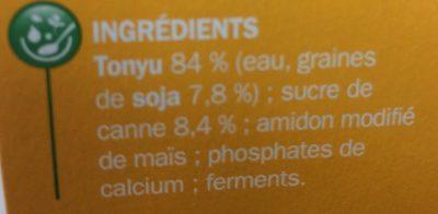 Spécialité au soja au sucre de canne - Ingrediënten - fr