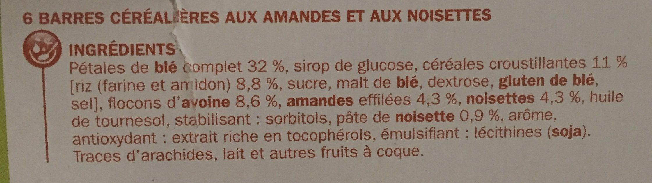 Nat&Vie au blė complet - Ingredients