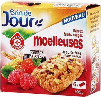 Barres céréales moelleuses fruits rouges x 6 - Produit