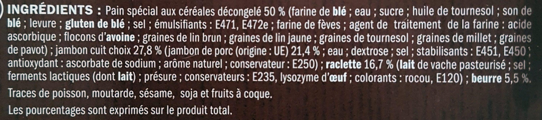 Burger Le Montagnard jambon et raclette - Ingrédients - fr